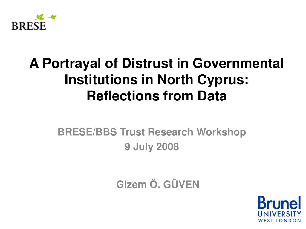 A Portrayal of Distrust in Governmental Institutions in North Cyprus: