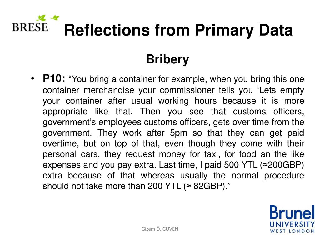 Reflections from Primary Data