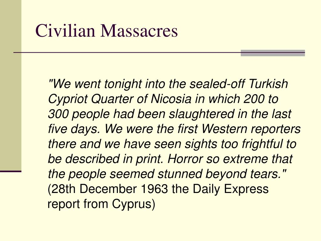 Civilian Massacres