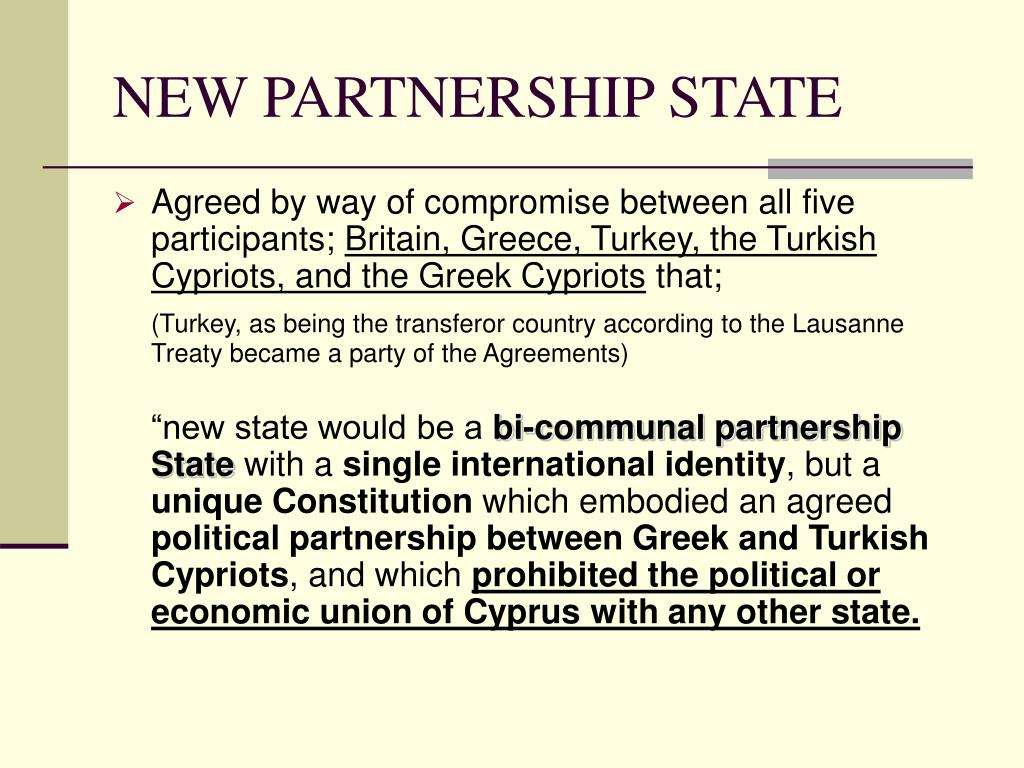 NEW PARTNERSHIP STATE