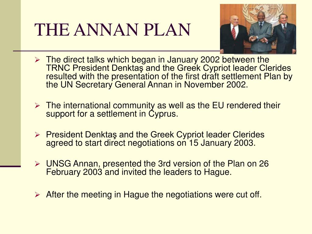 THE ANNAN PLAN