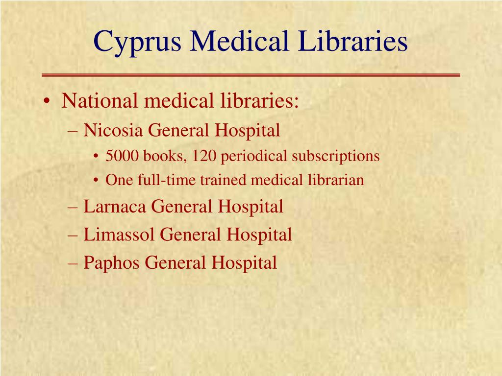 Cyprus Medical Libraries