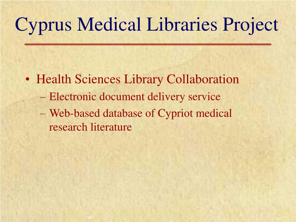Cyprus Medical Libraries Project