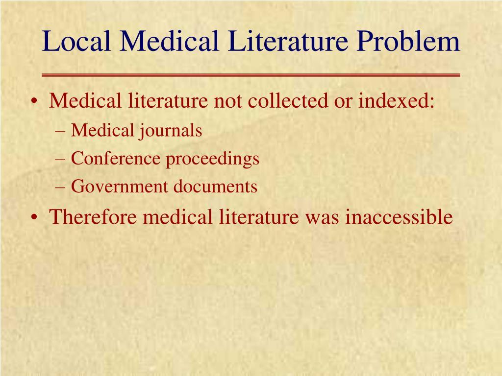 Local Medical Literature Problem