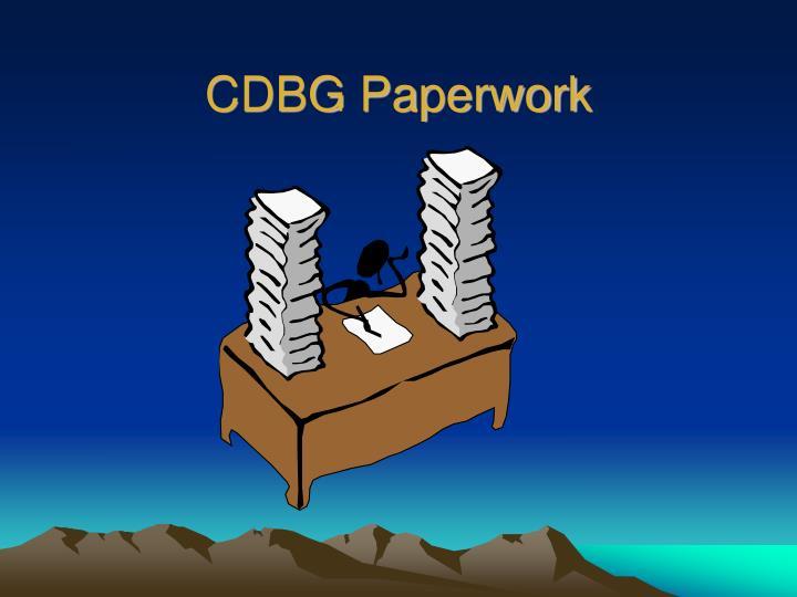 CDBG Paperwork