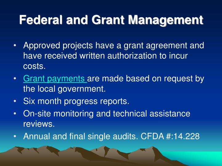 Federal and Grant Management