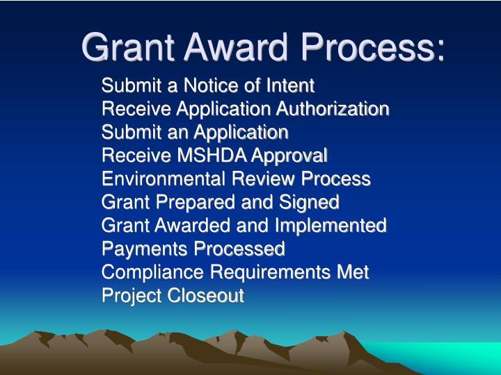 Grant Award Process:
