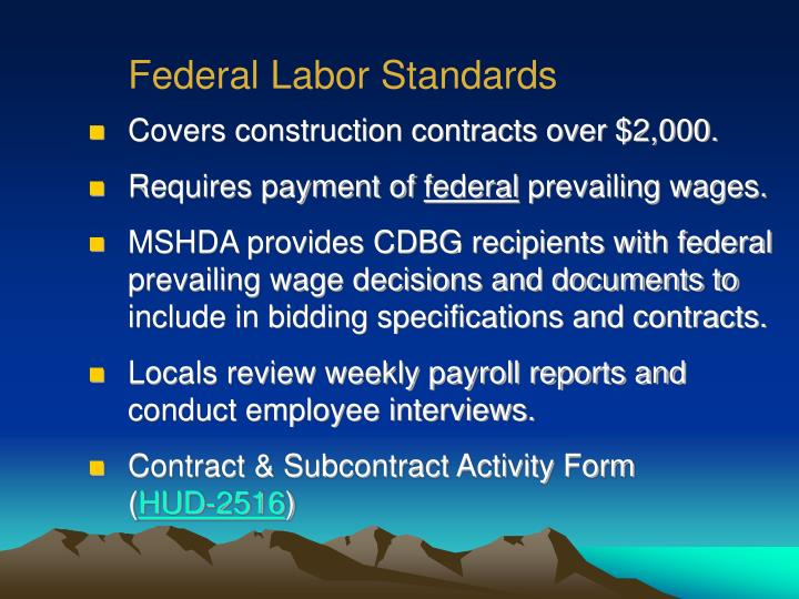 Federal Labor Standards