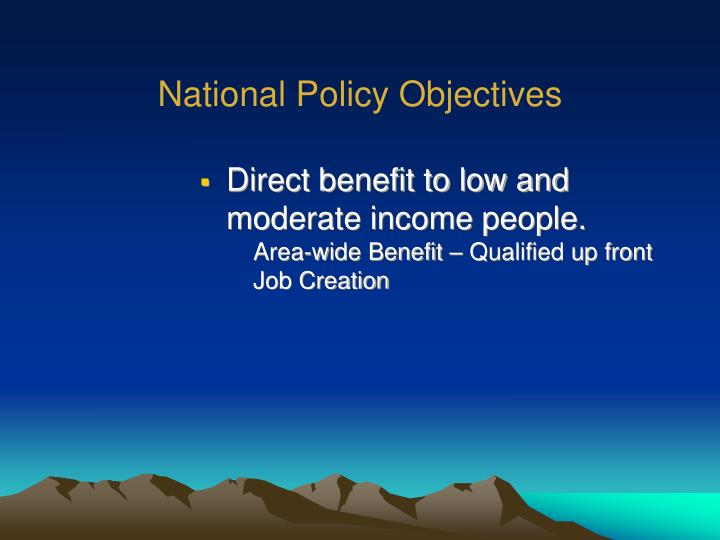 National Policy Objectives