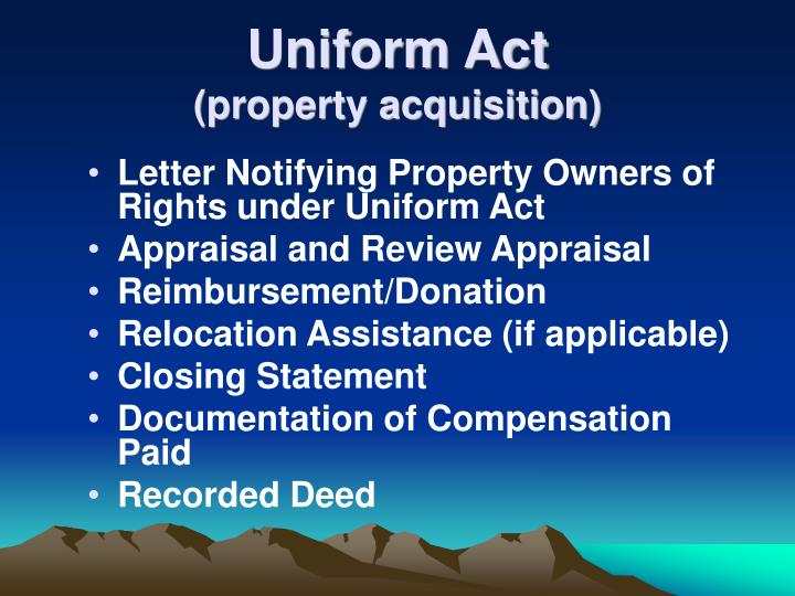 Uniform Act
