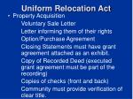 uniform relocation act