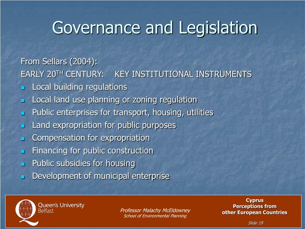 Governance and Legislation