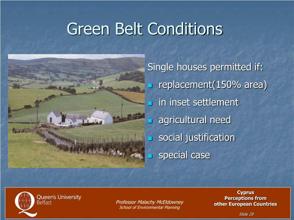 Green Belt Conditions