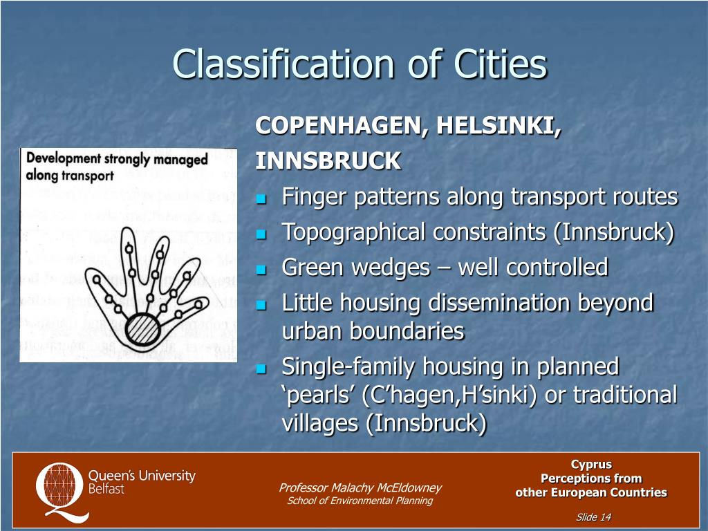 Classification of Cities