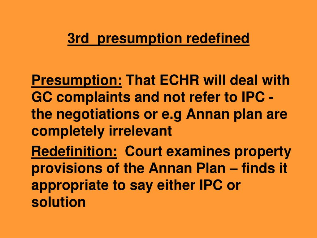 3rd  presumption redefined
