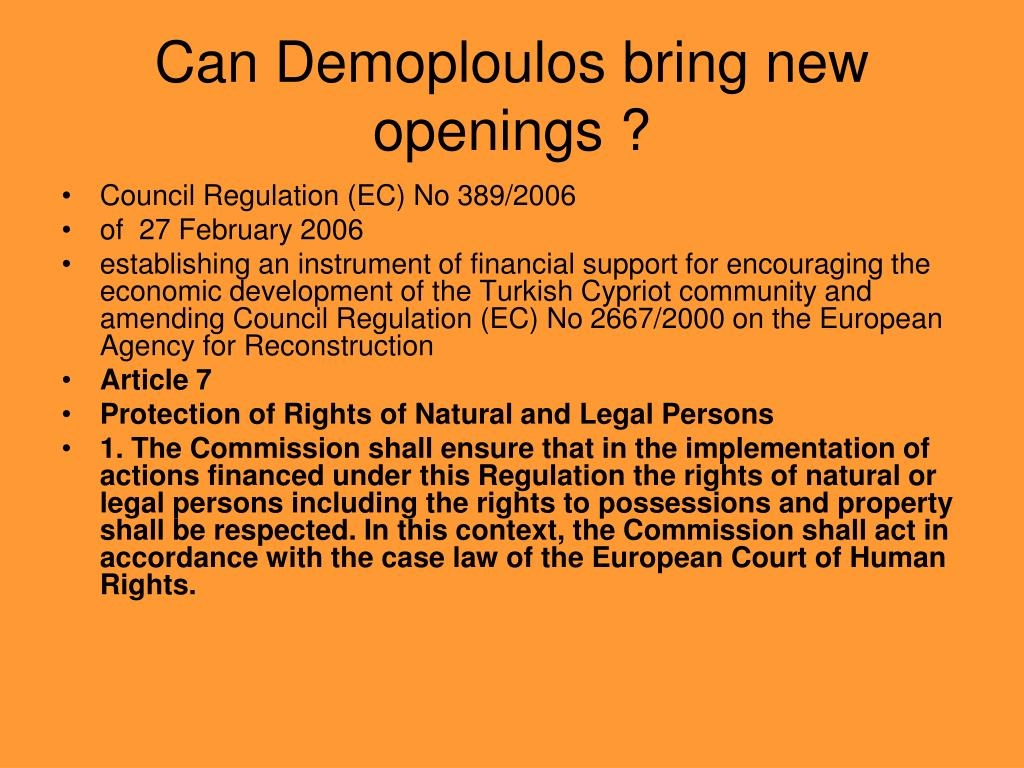 Can Demoploulos bring new openings ?
