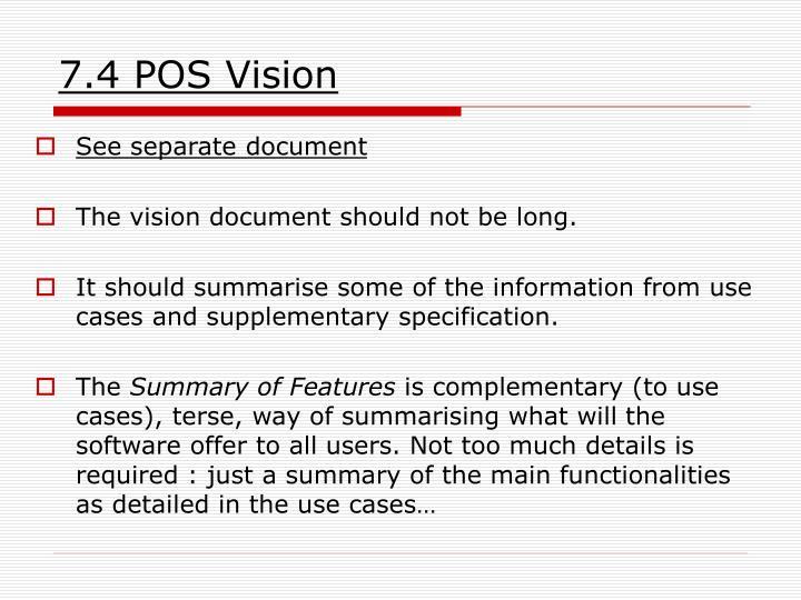 7.4 POS Vision