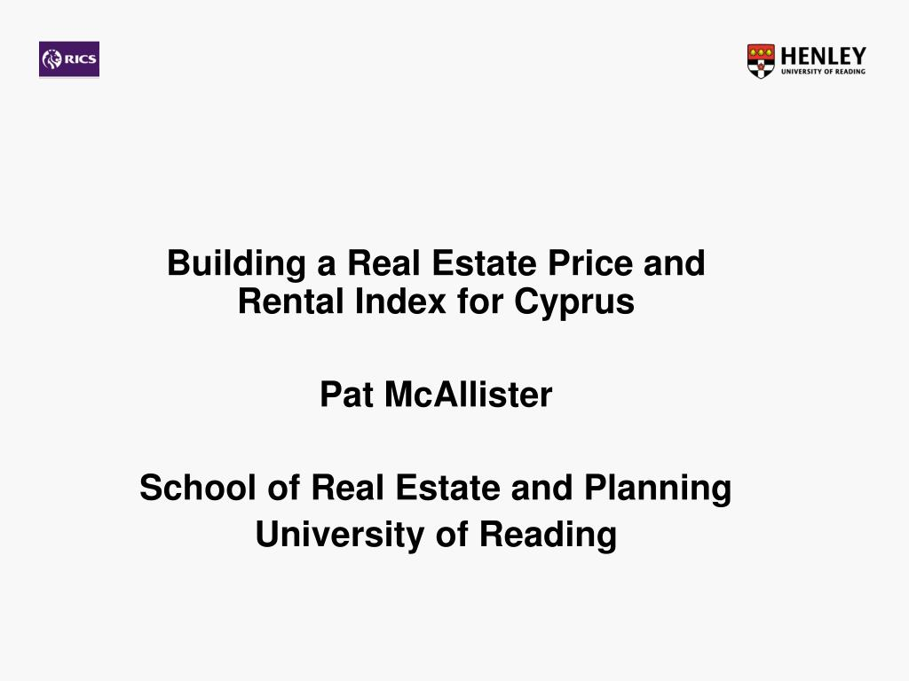 Building a Real Estate Price and Rental Index for Cyprus