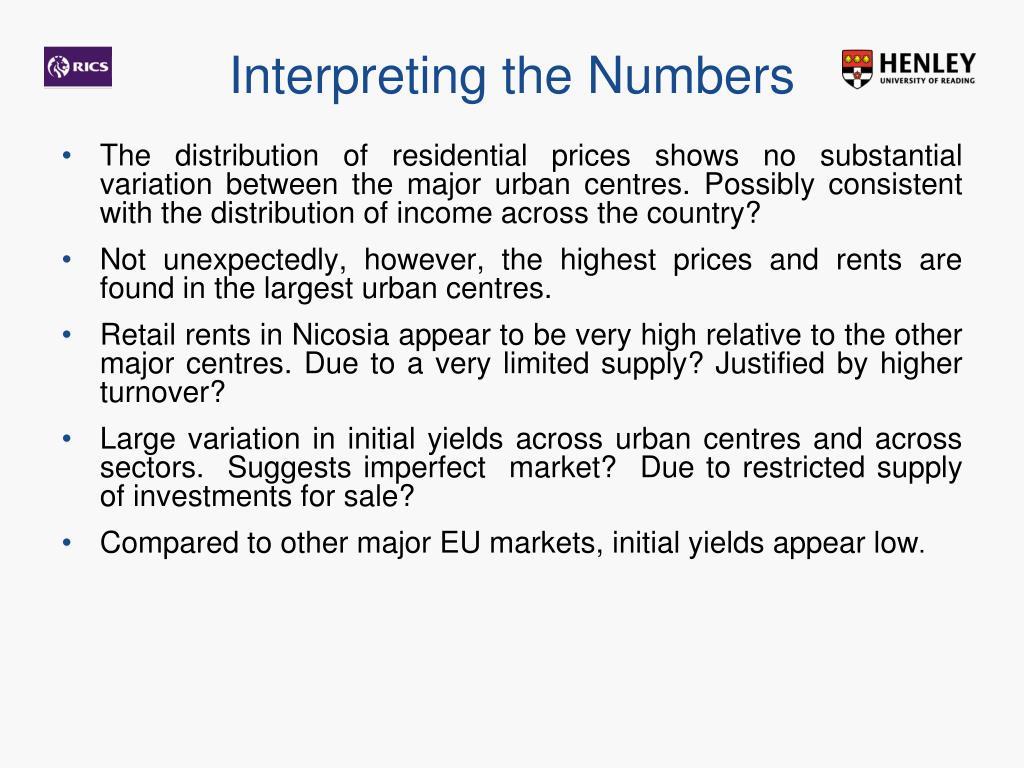 Interpreting the Numbers