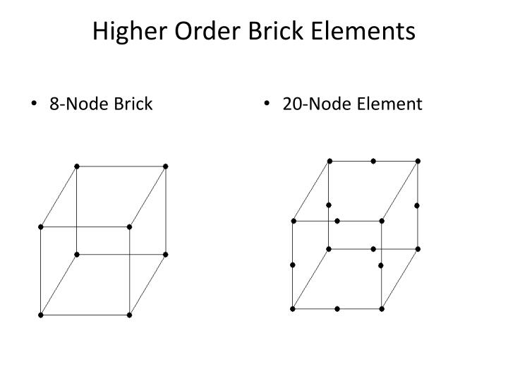 Higher Order Brick Elements