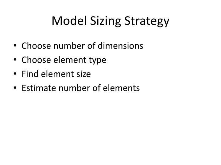 Model Sizing Strategy