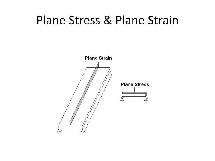 Plane Stress & Plane Strain