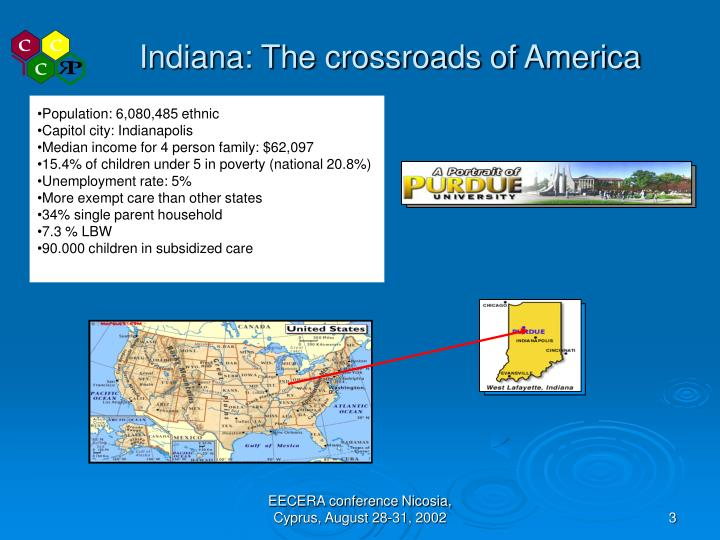 Indiana the crossroads of america