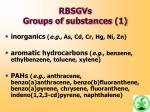 rbsgvs g roups of s ubstances 1