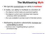 the multitasking myth