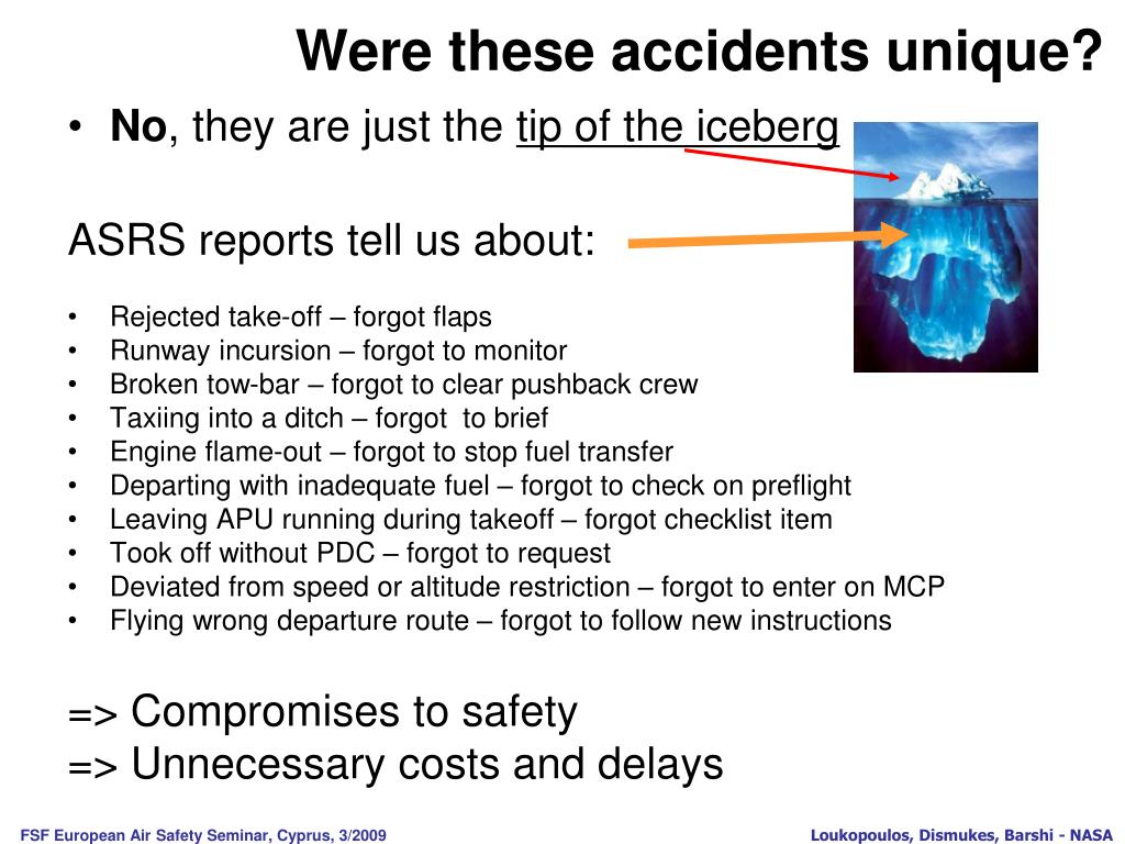 Were these accidents unique?