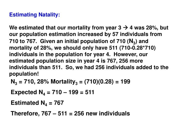 Estimating Natality: