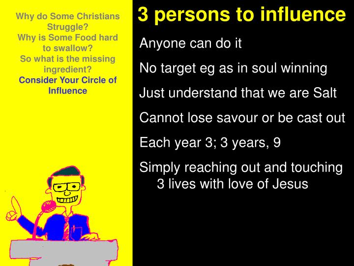 3 persons to influence