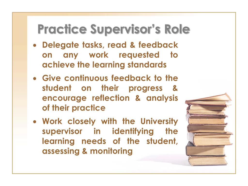 Practice Supervisor's Role
