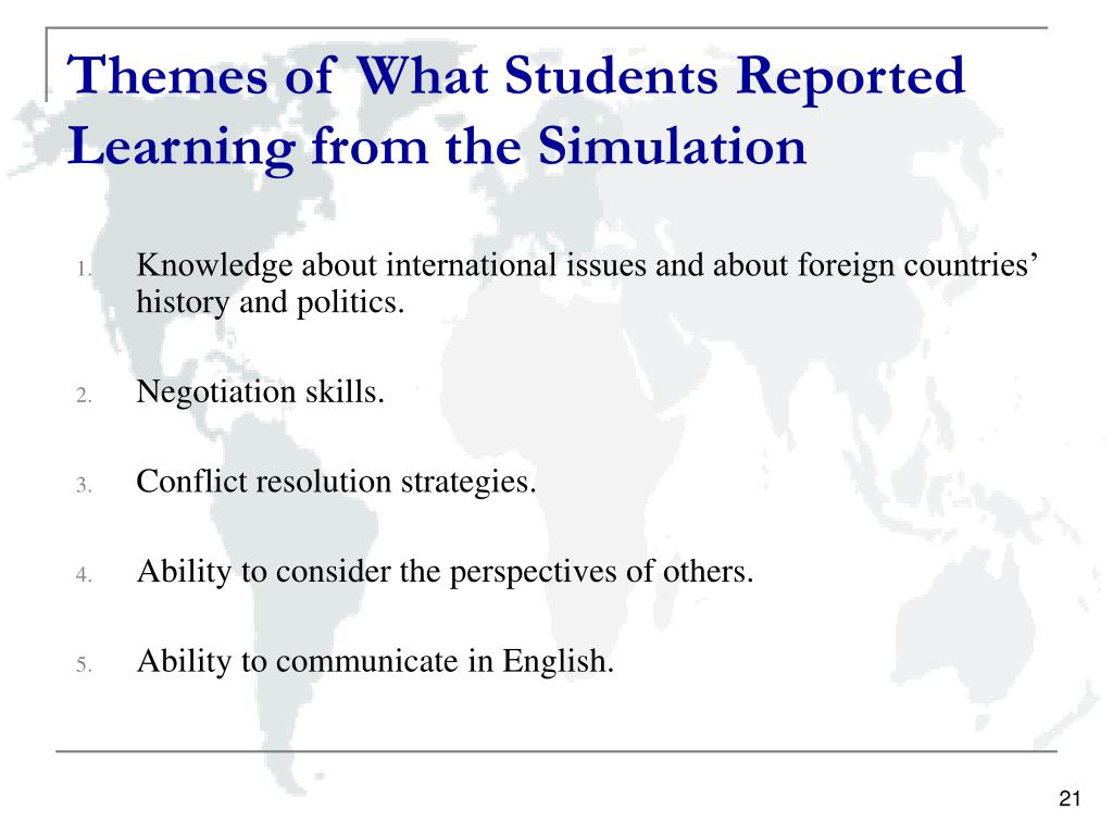 Themes of What Students Reported Learning from the Simulation