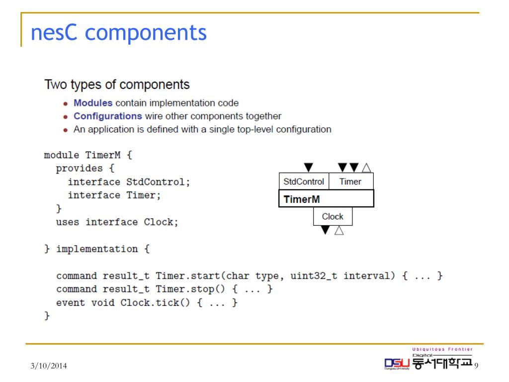 nesC components