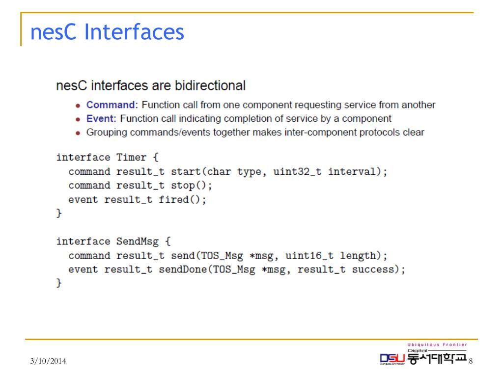 nesC Interfaces