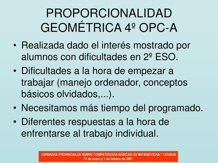 PROPORCIONALIDAD GEOMÉTRICA 4º OPC-A
