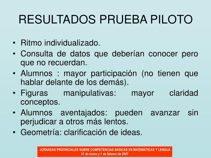 RESULTADOS PRUEBA PILOTO
