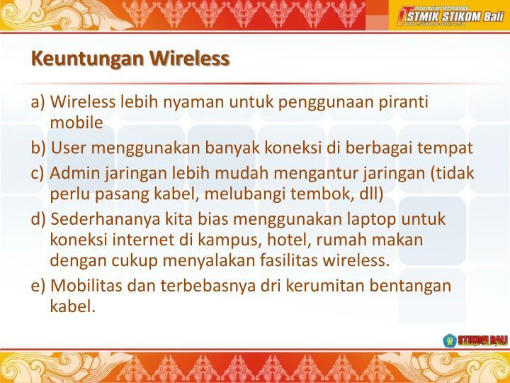 Keuntungan Wireless