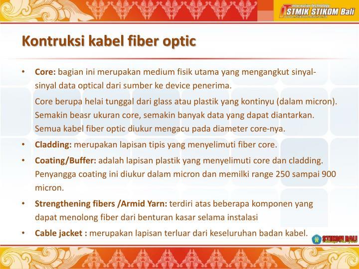 Kontruksi kabel fiber optic