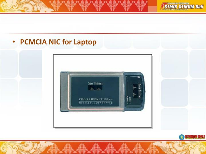 PCMCIA NIC for Laptop