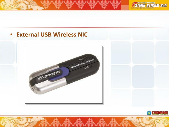 External USB Wireless NIC