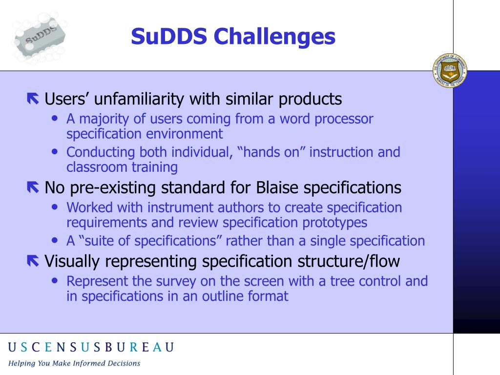 SuDDS Challenges