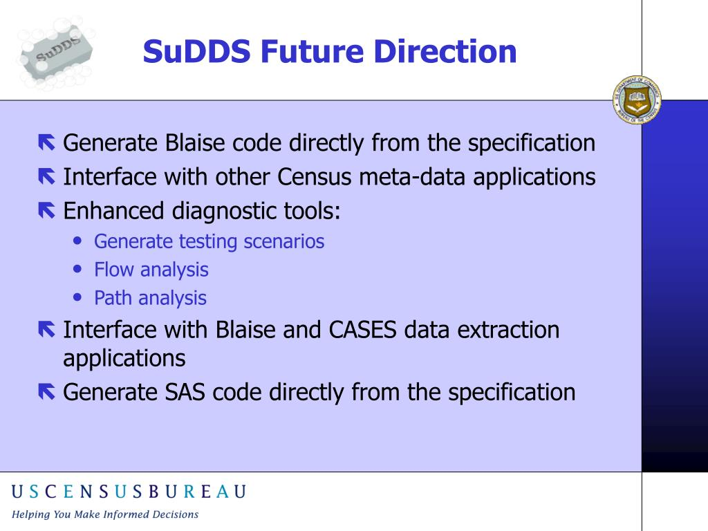 SuDDS Future Direction
