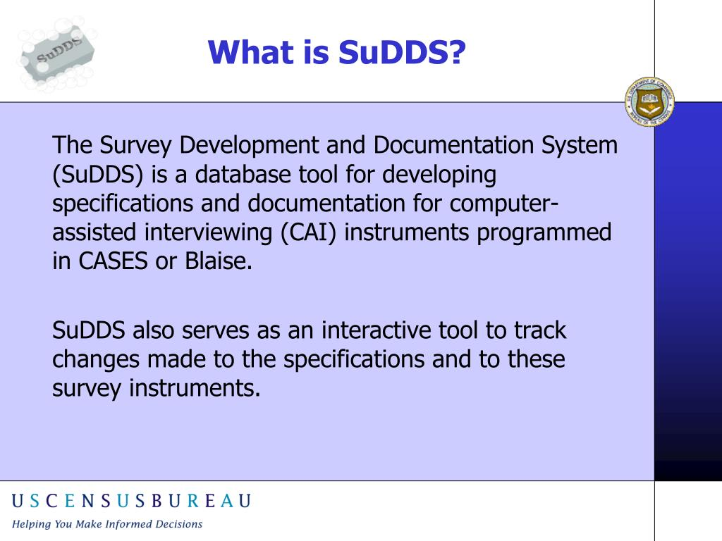 What is SuDDS?