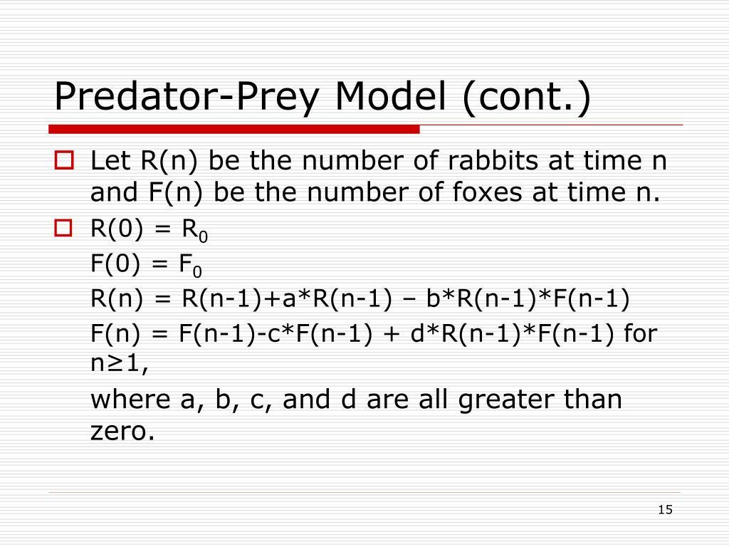 Predator-Prey Model (cont.)
