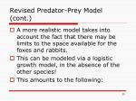 revised predator prey model cont