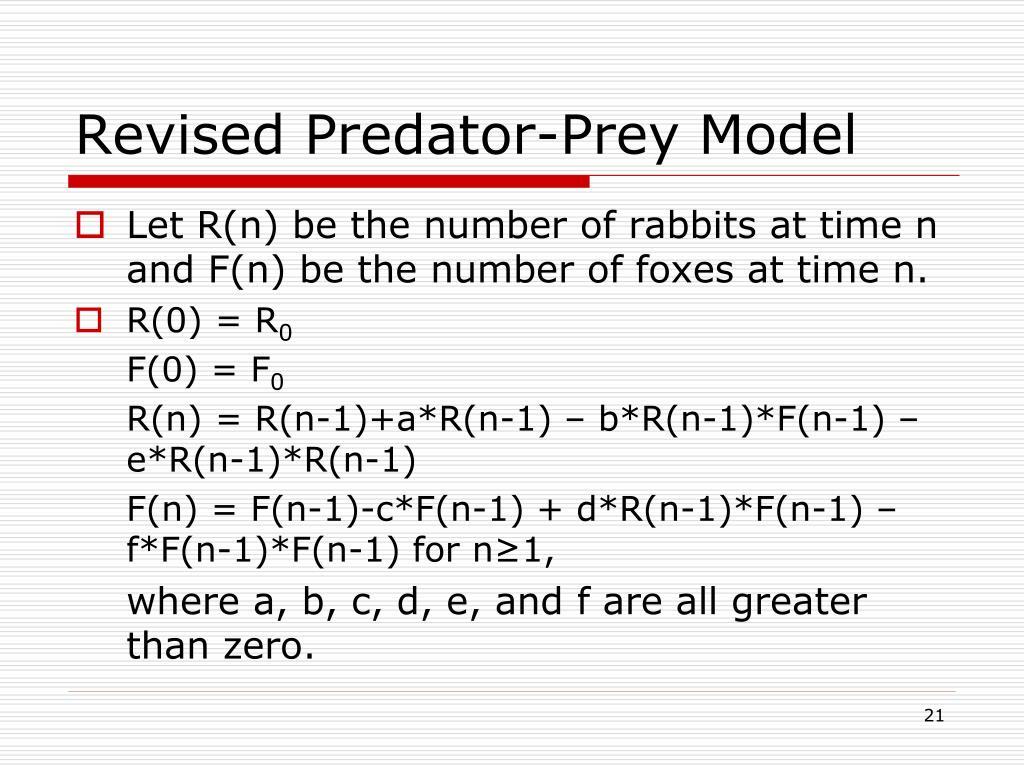 Revised Predator-Prey Model
