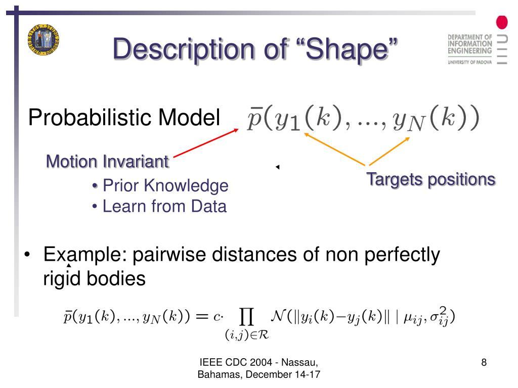 """Description of """"Shape"""""""