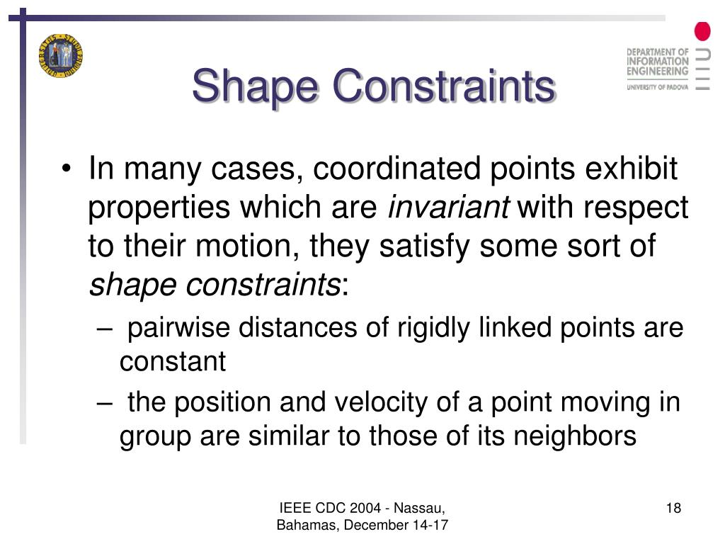 Shape Constraints